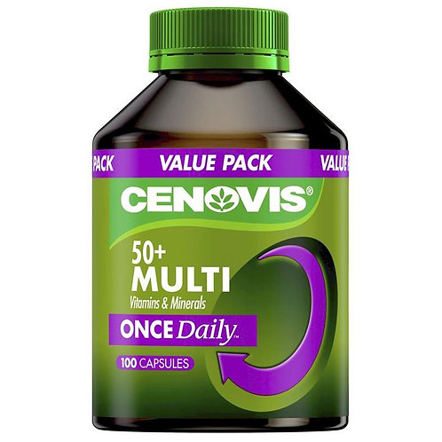 Cenovis Once Daily 50+ Multi Vitamins & Minerals  100 Capsules