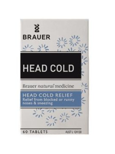 Brauer Head Cold Tablets 60