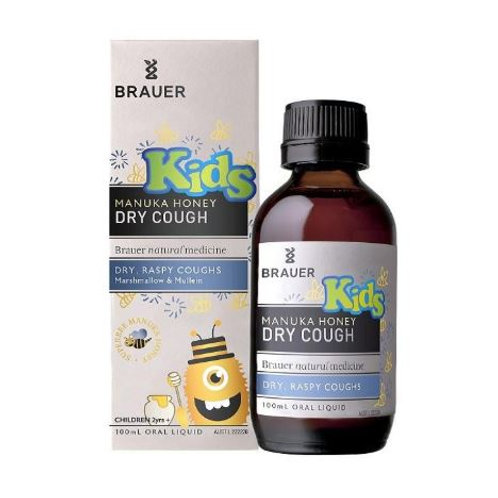 Brauer Kids' Manuka Honey Dry Cough| 100mL