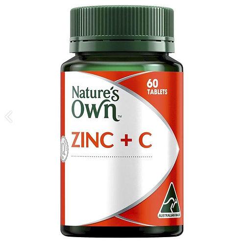 Nature's Own Zinc + C 60 Tablets