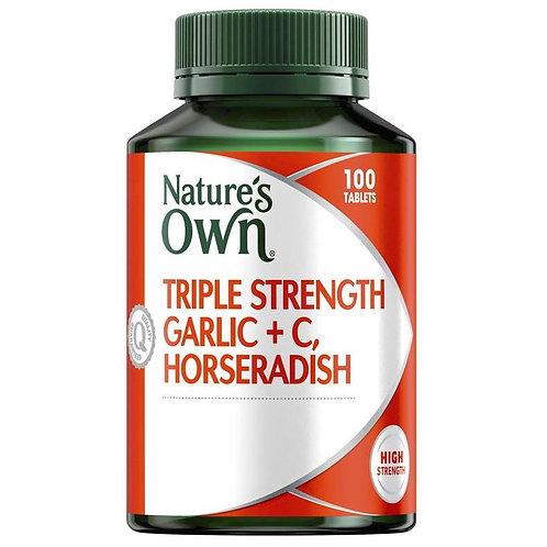 Nature's Own Triple Strength Garlic C Horseradish