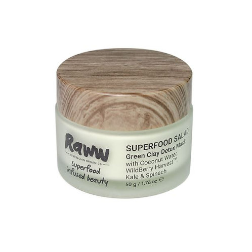 Raww SUPERFOOD SALAD Green Clay Detox Mask