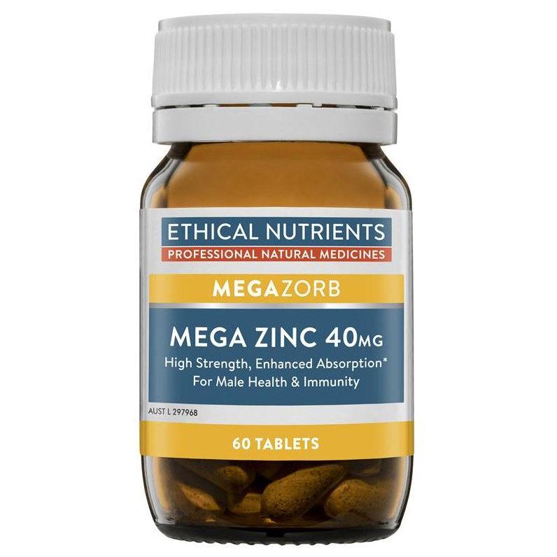 Ethical Nutrients Megazorb Mega Zinc 40 mg 60 Tablets