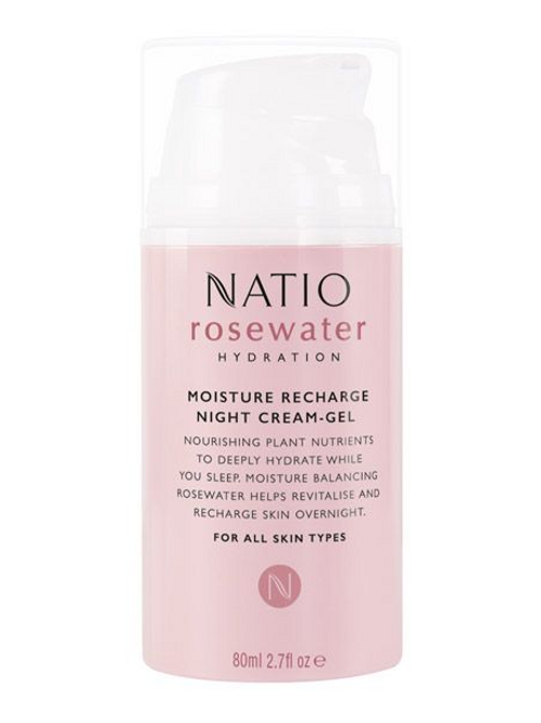 Natio Rosewater Moisture Recharge Night Cream-Gel