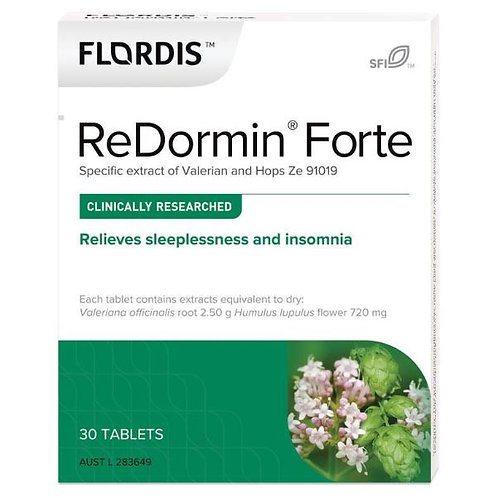 Flordis ReDormin Forte for Sleep (Valerian) 30 Tablets