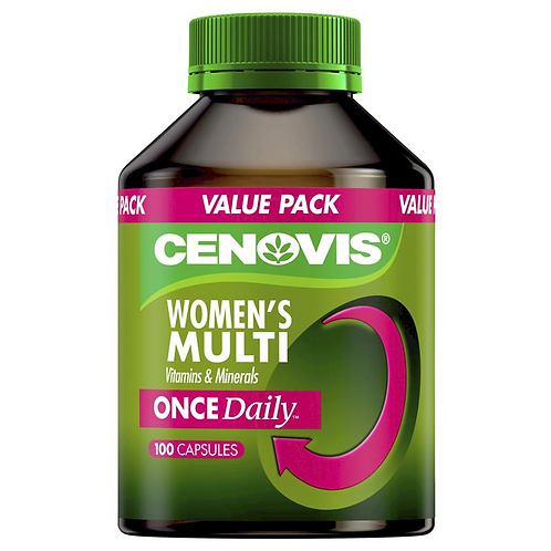 Cenovis Once Daily Women's Multi Vitamins & Minerals| 100 Capsules
