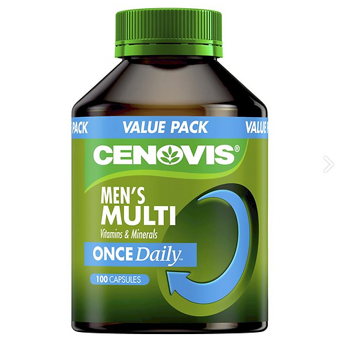 Cenovis Once Daily Men's Multi Vitamins & Minerals| 100 Capsules