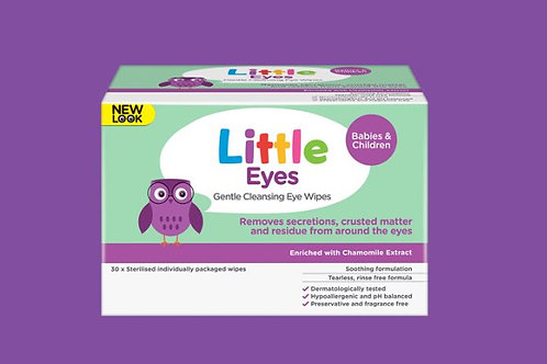 Little Eyes Gentle Cleansing Wipes| 30 Pack