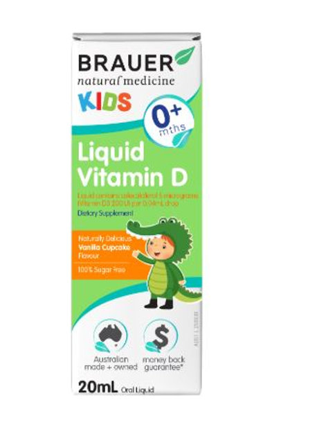 Brauer Natural Medicine Kids Liquid Vitamin D