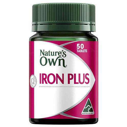 Nature's Own Iron Plus| 50 Tablets