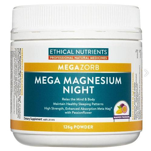 Ethical Nutrients MegaZorb Mega Magnesium Night 126g| Mango Passion