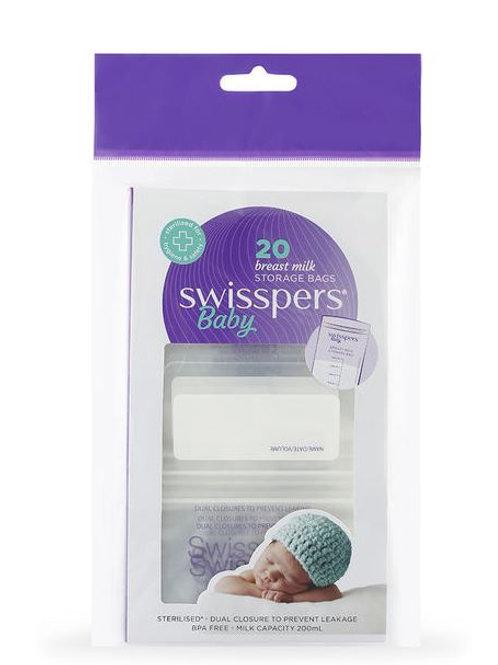 Swisspers Breast Milk Storage Bags| 20 pack