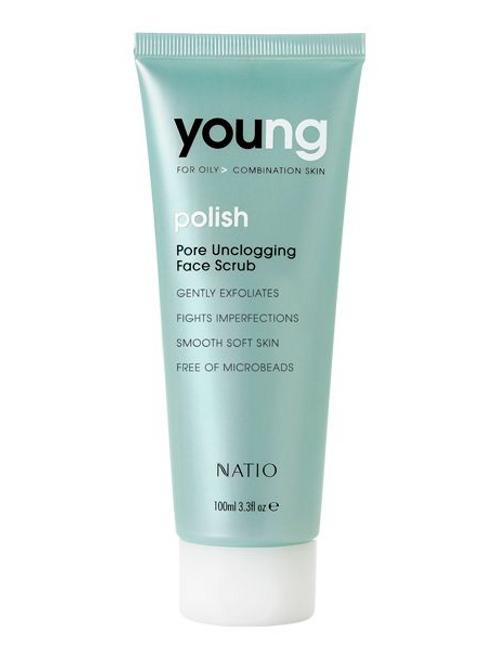Natio Young Pore Unclogging Face Scrub