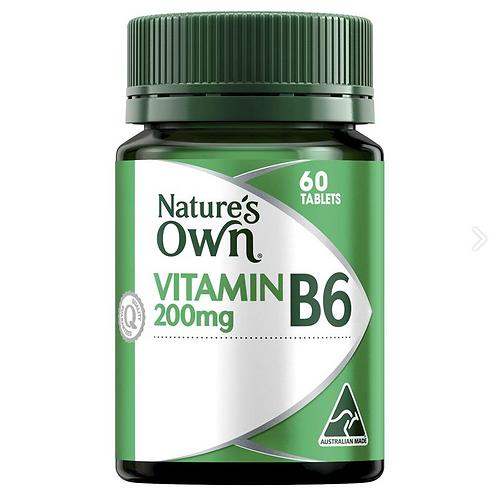 Natures Own Vitamin B6 200mg| 60 Tablets