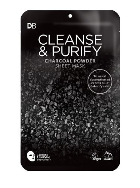 Designer Brands Cleanse & Purify Charcoal Powder Deluxe Sheet Mask