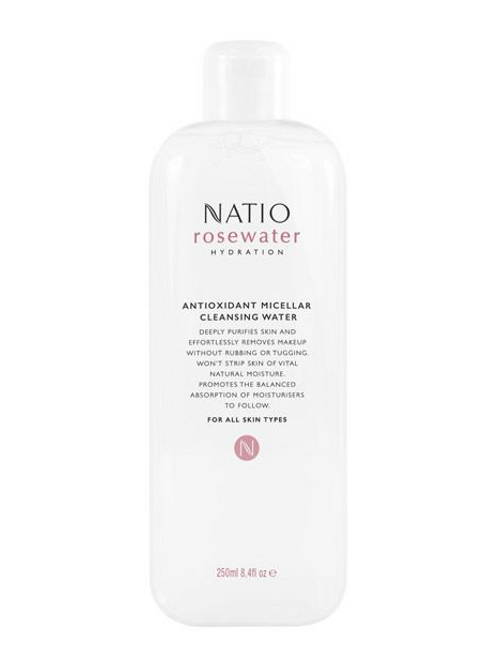 Natio Rosewater Hydration Antioxidant Micellar Cleansing Water