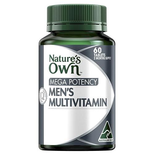 Nature's Own Mega Potency Men's Multivitamin| 60 Tablets