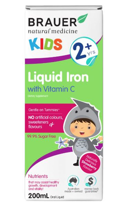 Brauer Natural Medicine Kids Liquid Iron with Vitamin C