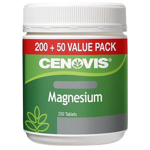 Cenovis Magnesium Value Pack| 250 Tablets Exclusive