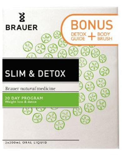 Brauer Elimitona Slim & Detox 200mL with Bonus Detox Guide and Body Brush