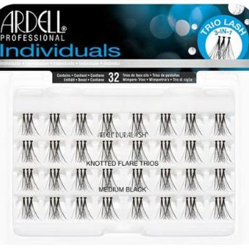 Ardell Individual Lashes  Knotted Flares  Medium Black
