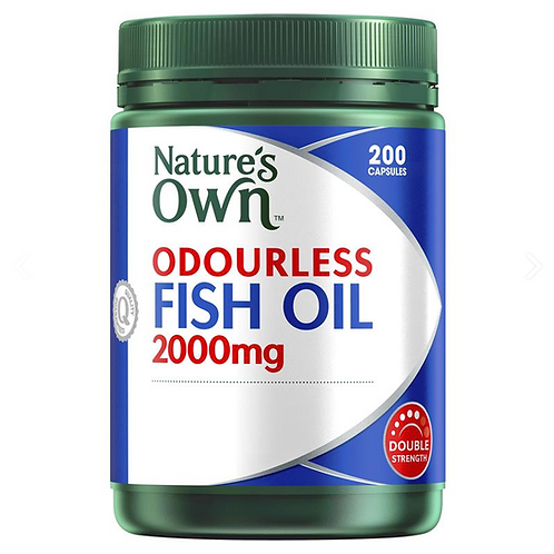 Nature's Own Fish Oil Odourless 2000mg| 200 Capsules