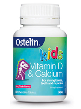 Ostelin Kids Calcium & Vitamin D3 Tablets  50 chewable tablets