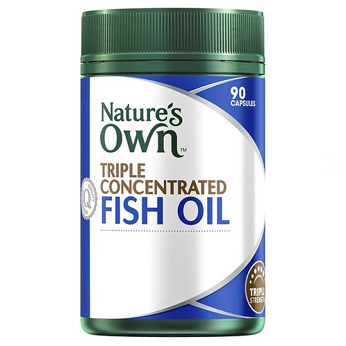 Nature's Own Triple Concentrated Fish Oil Odourless| 90 Capsules