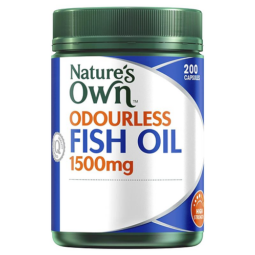 Nature's Own Fish Oil 1500mg Odourless| 200 Capsules