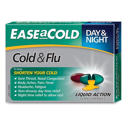 Ease a Cold Cold & Flu Day & Night| 24 Capsules