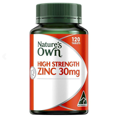 Nature's Own High Strength Zinc 30mg| 60 Tablets