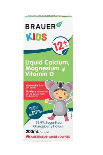 Brauer Natural Medicine Kids Liquid Calcium, Magnesium ...