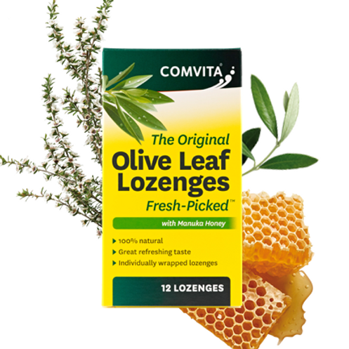 Comvita Olive Leaf Extract Lozenges w/ Manuka Honey| 12 Pack