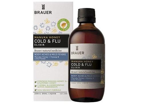 Brauer Adult Manuka Honey Cold & Flu Elixir 200mL