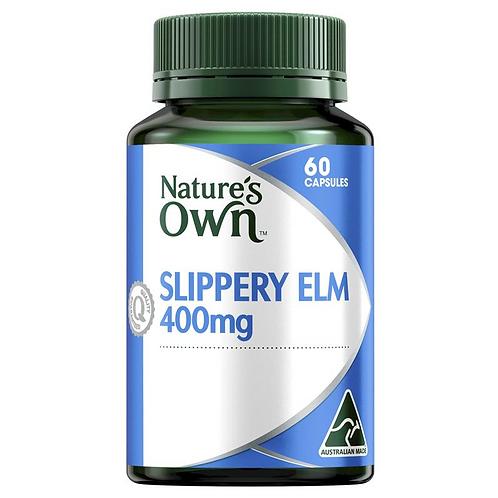 Nature's Own Slippery Elm 400mg| 60 Capsules