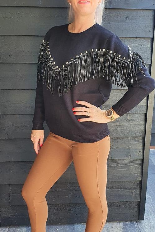 Sweater Glitter Black