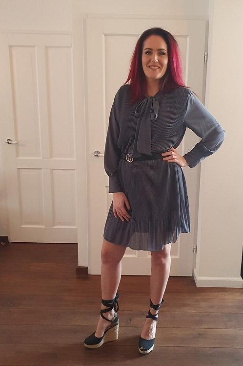 Bow Dress Grey