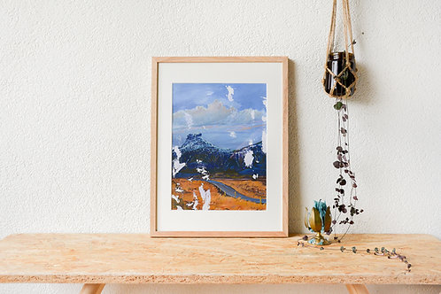 A Twinge Of The Heart | Framed gouache original