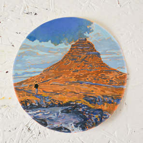 'Near the famous mountain'