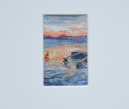 'Perlemor' Bay/origineel olieverfschilderij