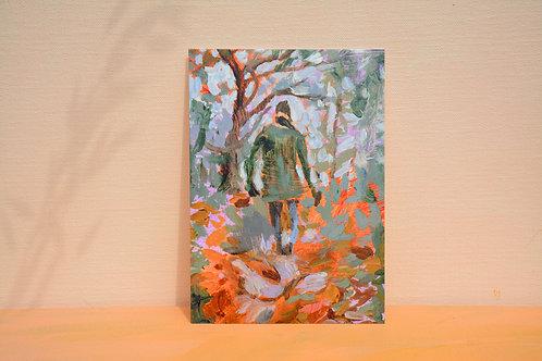 Childlike wonder painting | postcard