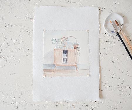 Easefully | waterverf op papier