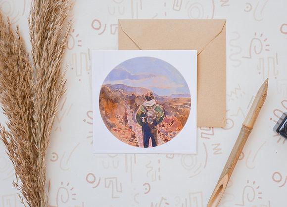 Wanderer | postcard + sticker
