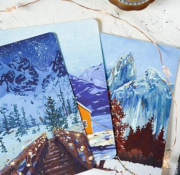 Winter wonderland set | fine-art postcards