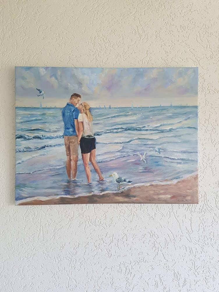 'Lissette & Diederik' oil painting commission (2019)