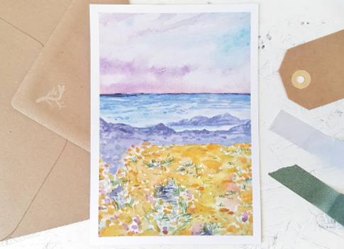 Colorful coast | postcard