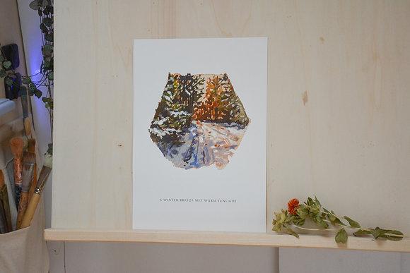 A WINTER BREEZE MET WARM SUNLIGHT | fine-art print