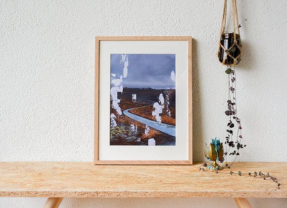 This Path That I've Taken | Framed gouache original