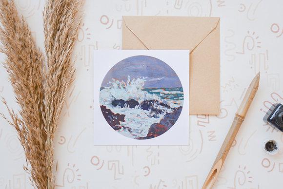 Our daybreak storm   postcard + sticker