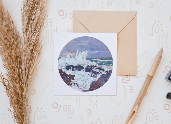 Our daybreak storm | postcard + sticker
